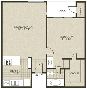 Floor Plan 1 | Grove At Northwest Hills Apartments Austin, Tx