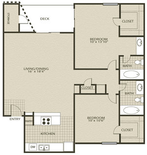 Floor Plan 5 | Grove At Northwest Hills Apartments Austin, Tx