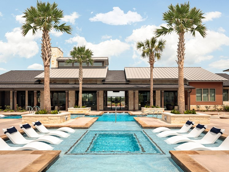 Resort Inspired Pool Featuring Baja Decks And Plunge Pool at Viridian, San Antonio, Texas