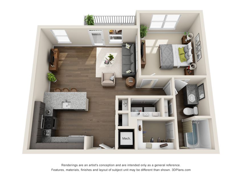 A4p Floor Plan at Viridian, San Antonio, TX, 78244