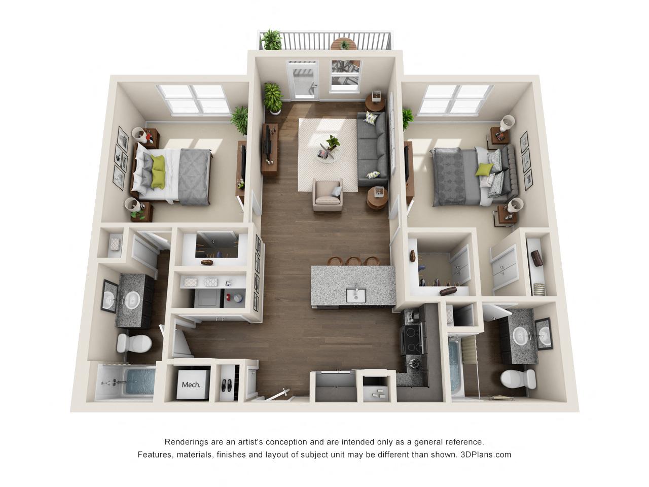 1 2 Amp 3 Bedroom Apartments In San Antonio Tx Viridian
