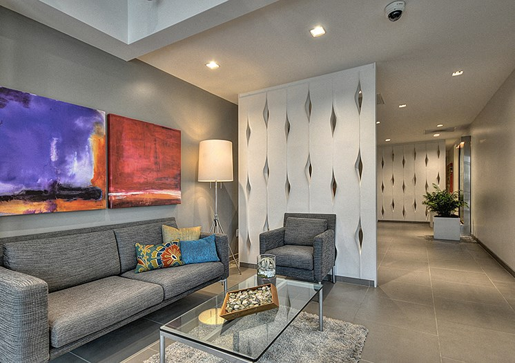 Furnished Living room and hally Merritt on 3rd Apt rentals in Oakland, CA