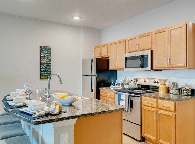 WaterVue at Longwood Apartments for rent in Longwood, FL. Make this community your new home or visit other Concord Rents communities at ConcordRents.com. Lake view single suite kitchen