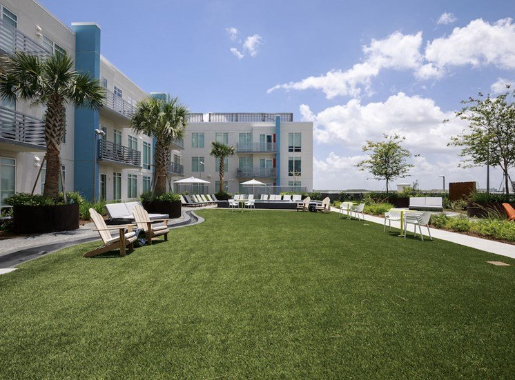 amenity deck lawn for activities at Lake Nona Pixon