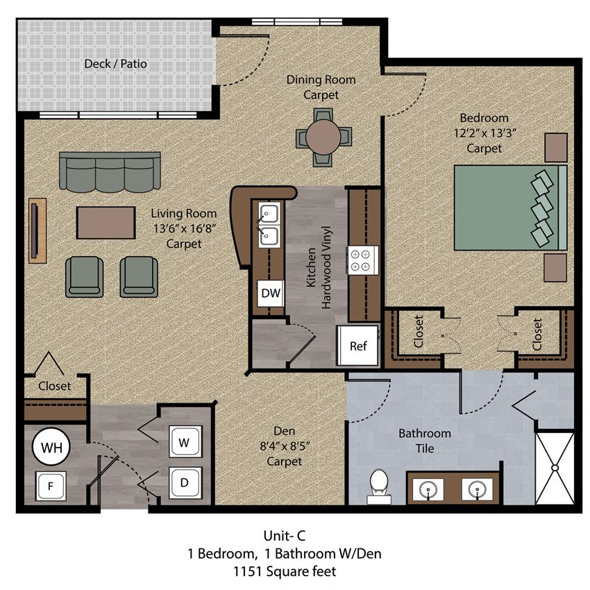 1 Bedroom Den