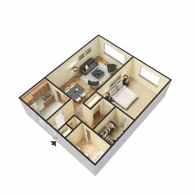 Floor Plans Of Crystal Lake Apartments In Miami Gardens, FL