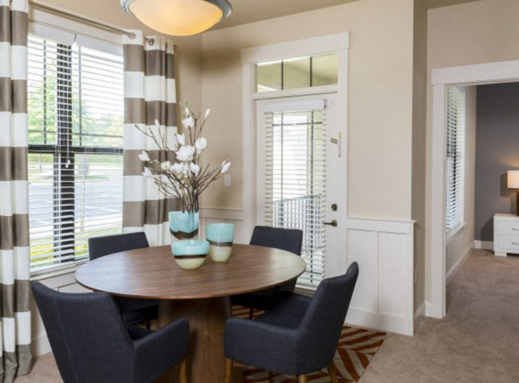 Dining room areas at the Apartments at Blakeney in Charlotte, NC