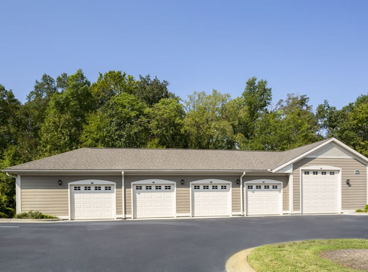 Detached garages The Apartments at Blakeney in Charlotte, NC