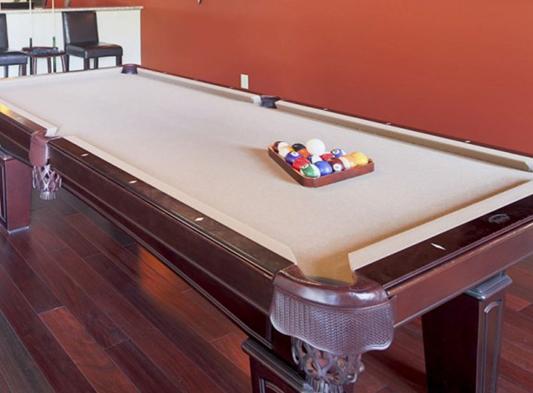 Pool room at Apartments at the Arboretum in Cary, NC