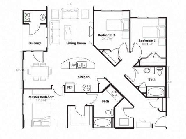 Limestone Floor Plan 7
