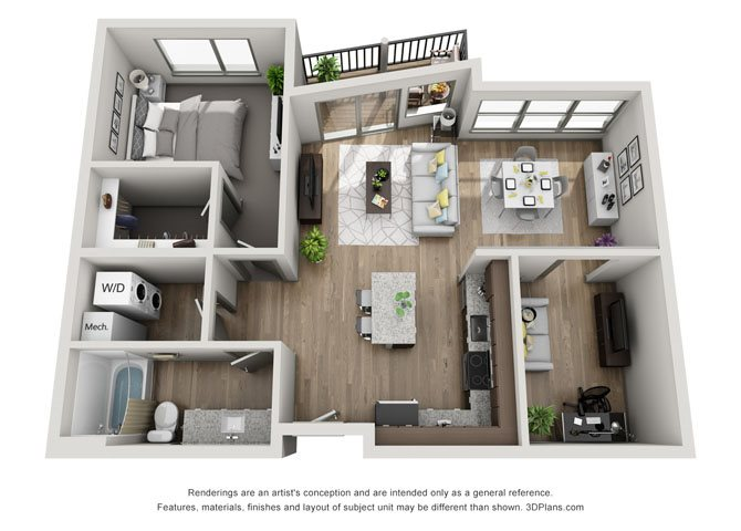 1A + Bonus Room- Cleveland Floor Plan 18