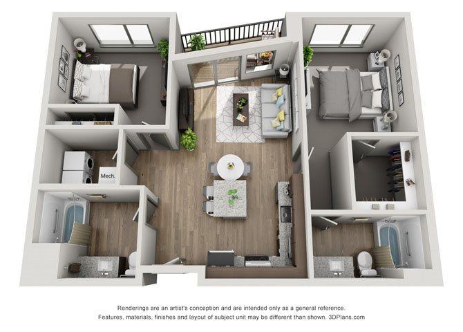 2B- Cleveland Floor Plan 21