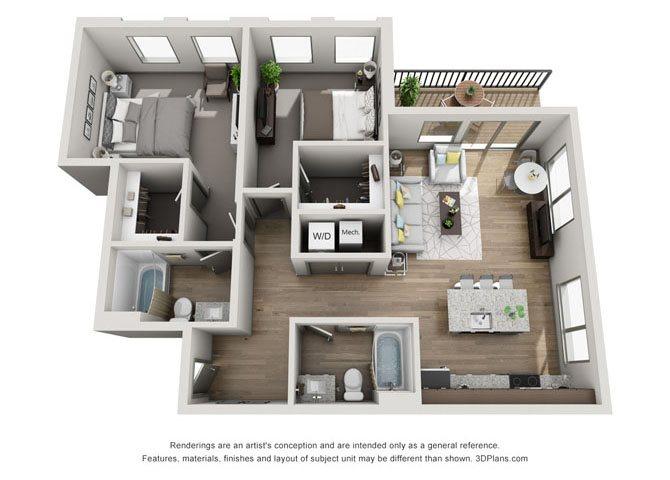 2C- Cleveland Floor Plan 22
