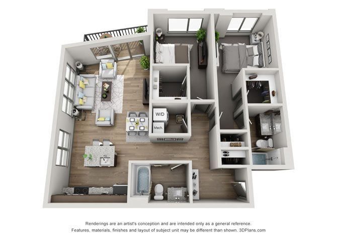 2D- Cleveland Floor Plan 23