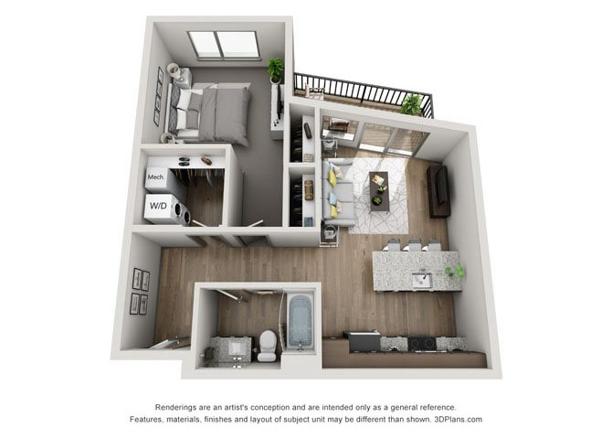 1B- Lincoln Floor Plan 4