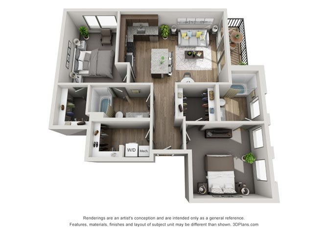 2B- Lincoln Floor Plan 8