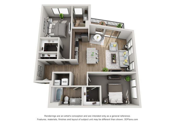 2D- Lincoln Floor Plan 10
