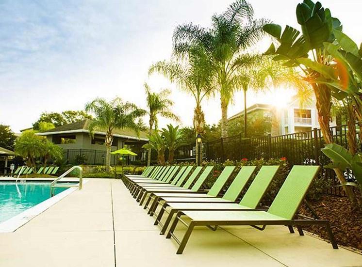 Swimming pool at Arbor Walk Apartments in Tampa, FL