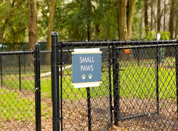 Bark park at Arbor Walk Apartments in Tampa, FL