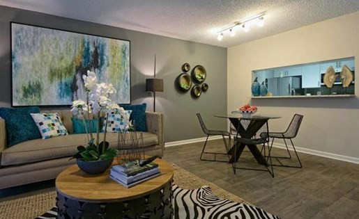 Living space at Doral West Apartment Homes in Doral, FL