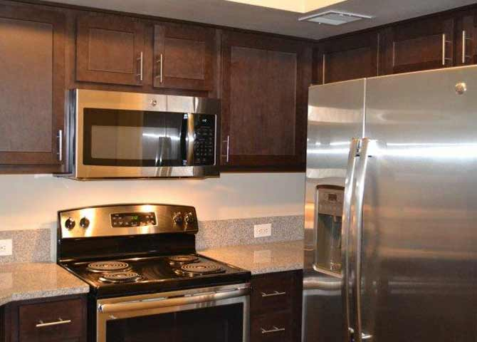 Two bedroom two bathroom B1 Floorplan at Doral West Apartment Homes in Doral, FL