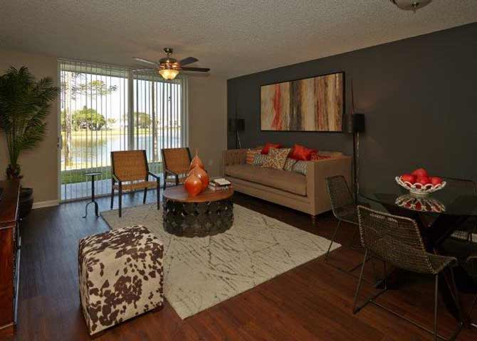Two bedroom two bathroom B2 Floorplan at Doral West Apartment Homes in Doral, FL
