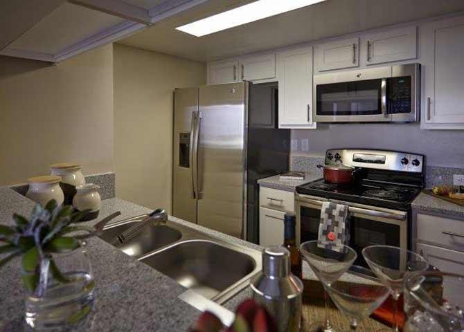 Three bedroom two bathroom C2 Floorplan at Doral West Apartment Homes in Doral, FL