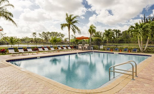 Pool at Hidden Harbor Apartments in Royal Palm Beach, FL