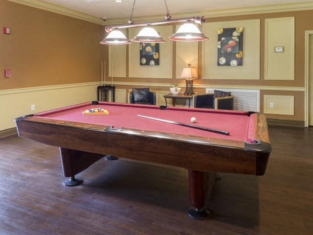 Billiards room at Marela apartments in Pembroke Pines, Florida