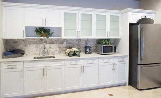 Kitchen in clubhouse at Marela apartments in Pembroke Pines, Florida