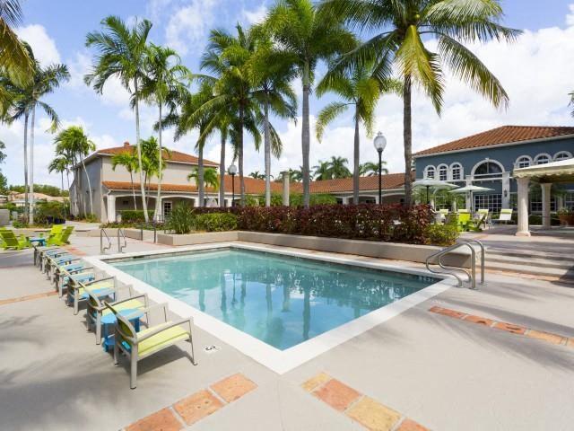 Lap pool at Marela apartments in Pembroke Pines, Florida