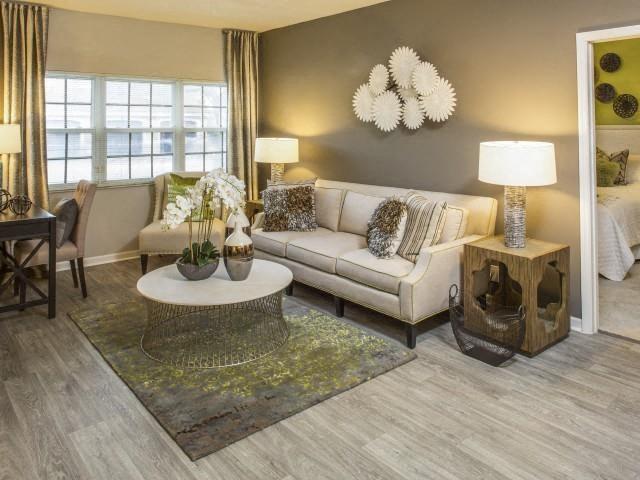 living room model at Marela apartments in Pembroke Pines, Florida