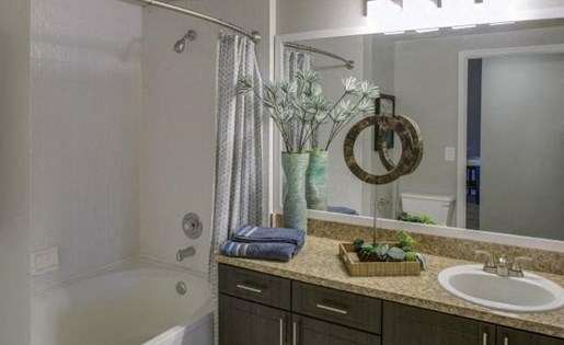 Bathroom at Marela apartments in Pembroke Pines, Florida