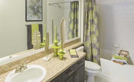 Brand new bathroom at Marela apartments in Pembroke Pines, Florida