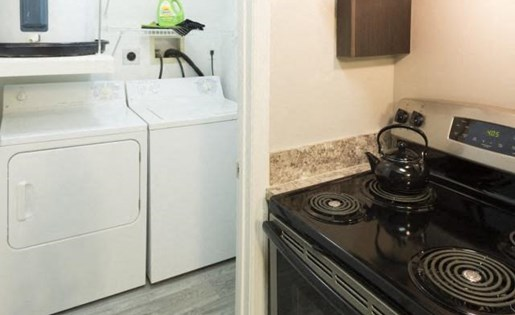 Full size washer and dryer at Marela apartments in Pembroke Pines, Florida