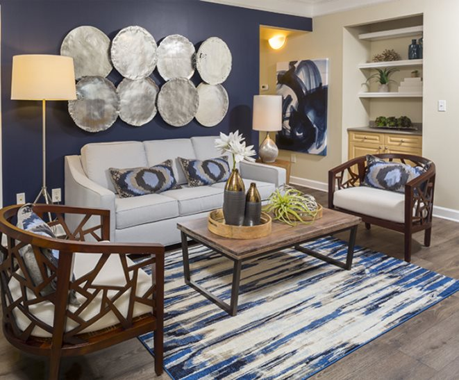 Living area at Parks at Crossroads Apartments in Cary, NC
