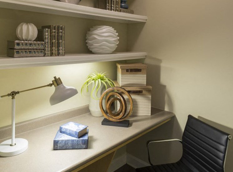 Built-in desks Park at Crossroads Apartments in Cary, NC