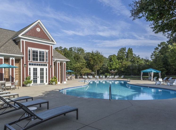 Sparkling pool Park at Crossroads Apartments in Cary, NC