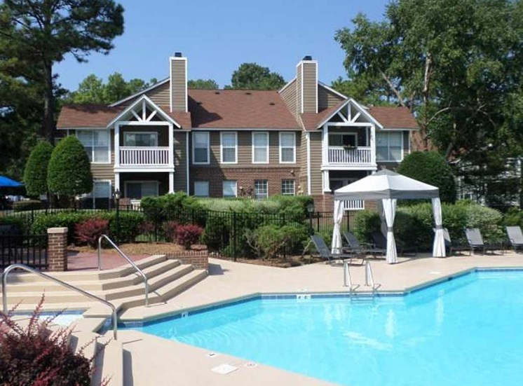 One of three swimming pools at Reafield Village Apartments in Charlotte, NC