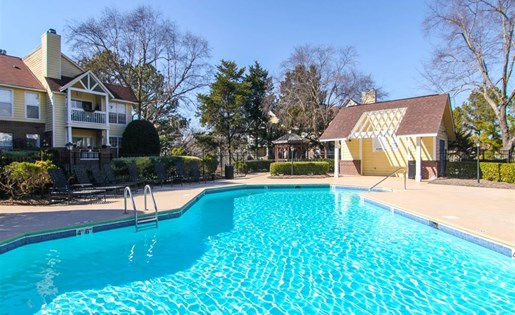 Sparkling pool at Reafield Apartments in Charlotte NC