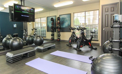 State-of-the-art fitness center at Reafield Village Apartments in Charlotte, NC