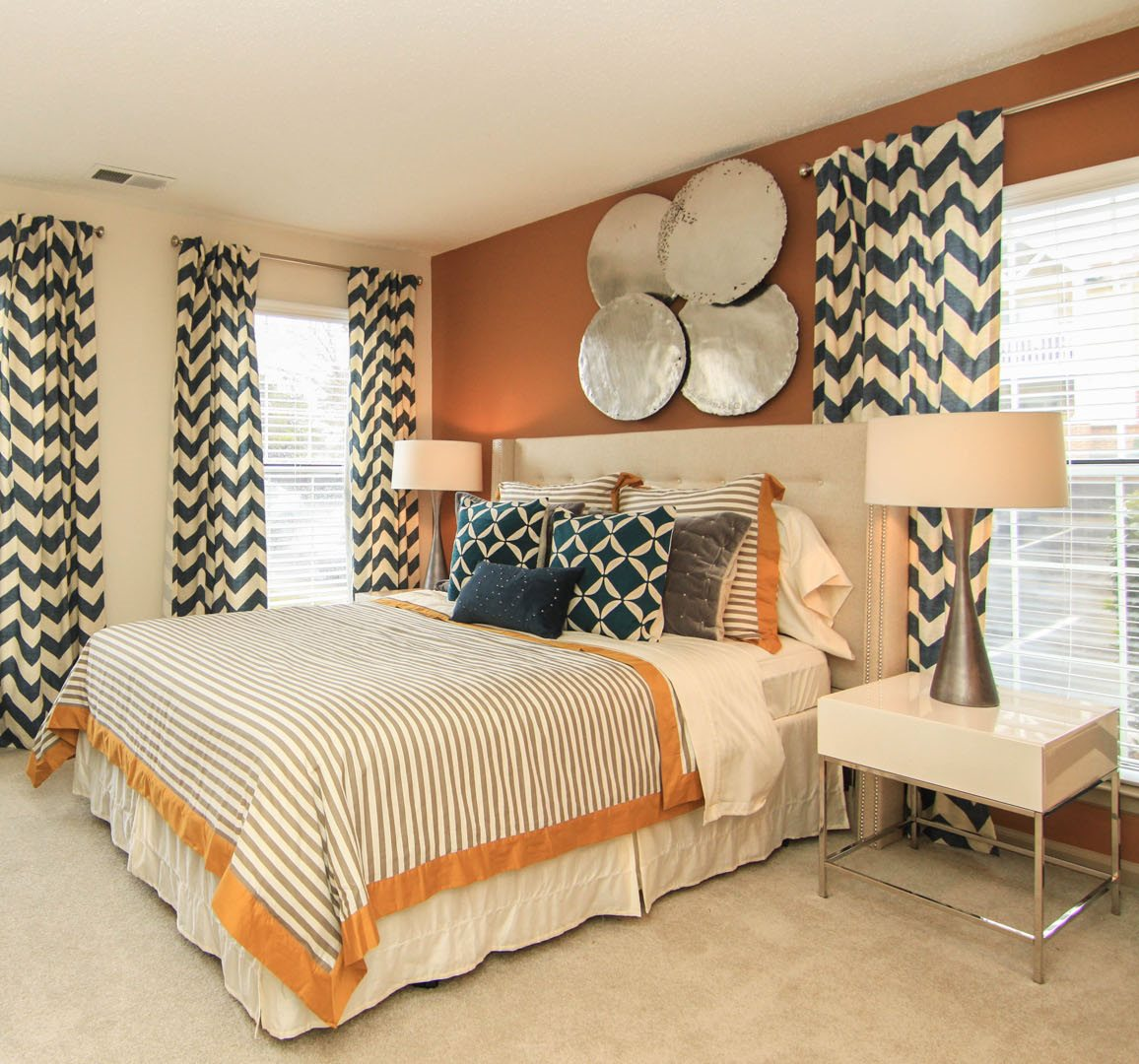 Bedroom at Reafield Village Apartments in Charlotte NC