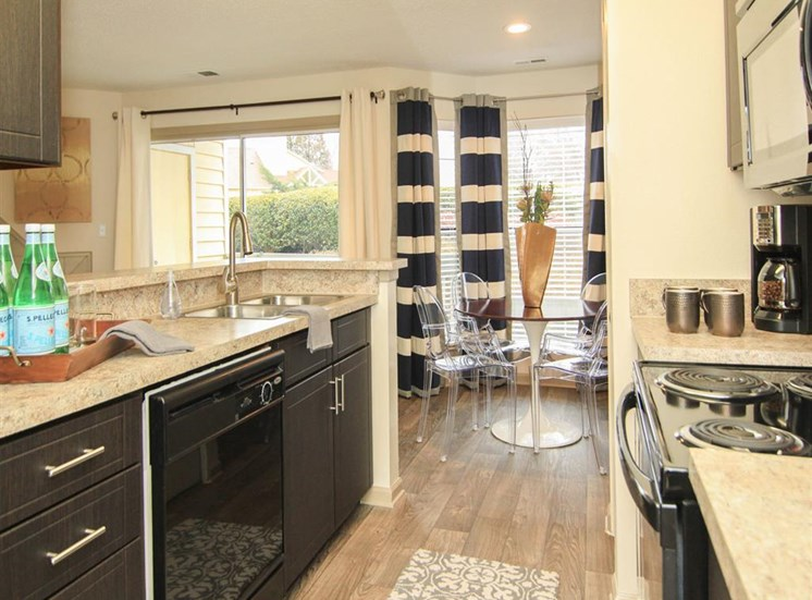 Brand new kitchens at Reafield Village apartments in Charlotte, NC