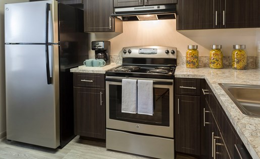 Brand new kitchens at Siena Apartments in Plantation FL