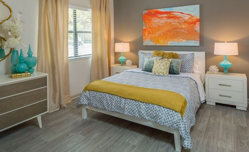Second bedroom apartments at Siena Apartments in Plantation FL