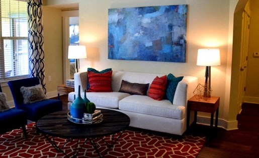 Living room at Southpoint Village Apartments in Durham, NC