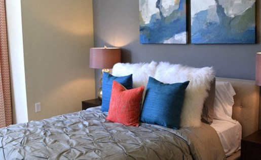 Master bedroom at Southpoint Village Apartments in Durham, NC