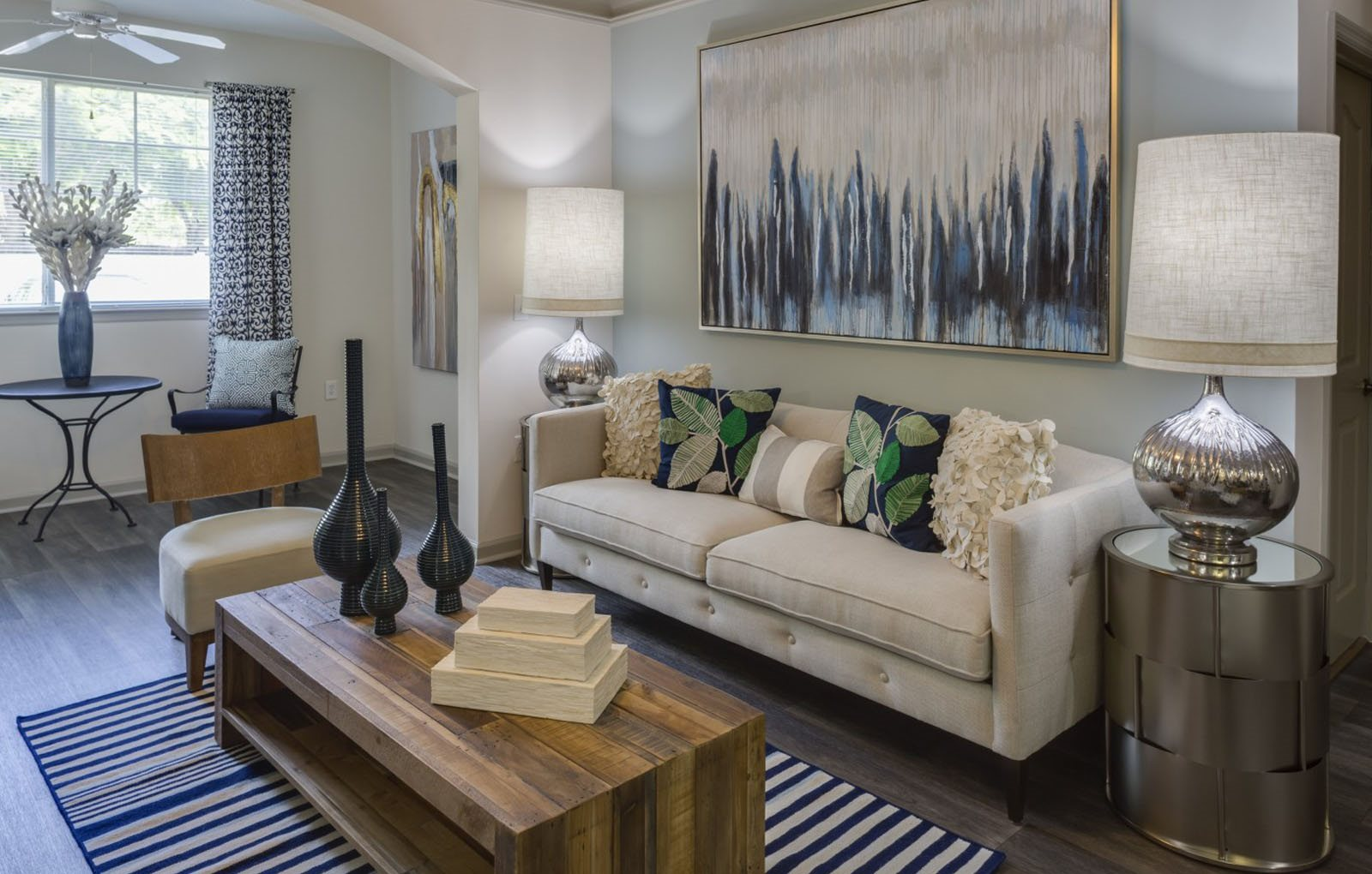 Living area at Vista Lago Apartments in West Palm Beach, FL