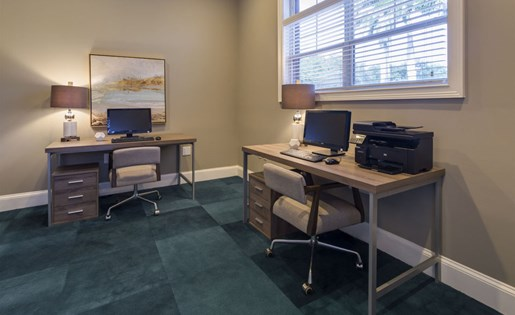 Business Center at Vista Lago Apartments in West Palm Beach, Florida