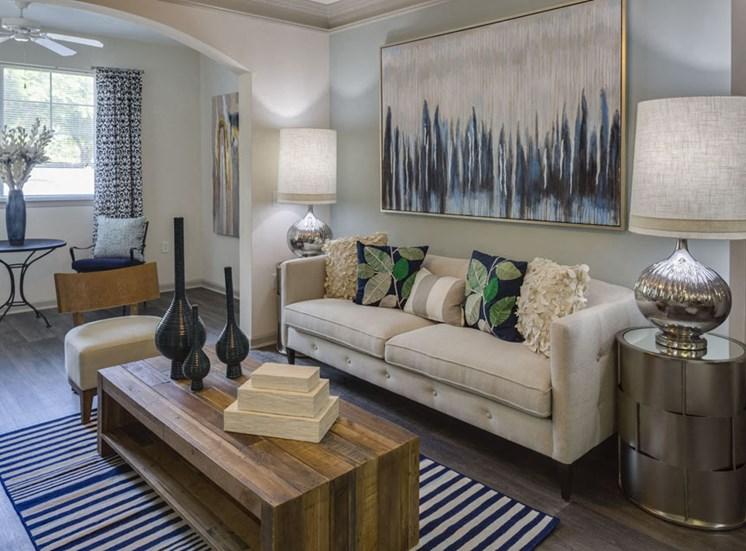 Living room at Vista Lago Apartments in West Palm Beach, Florida